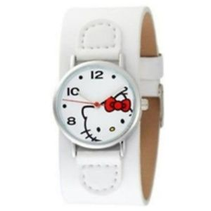 Hello Kitty Cuff Watch White by Simmons Jewelry Co